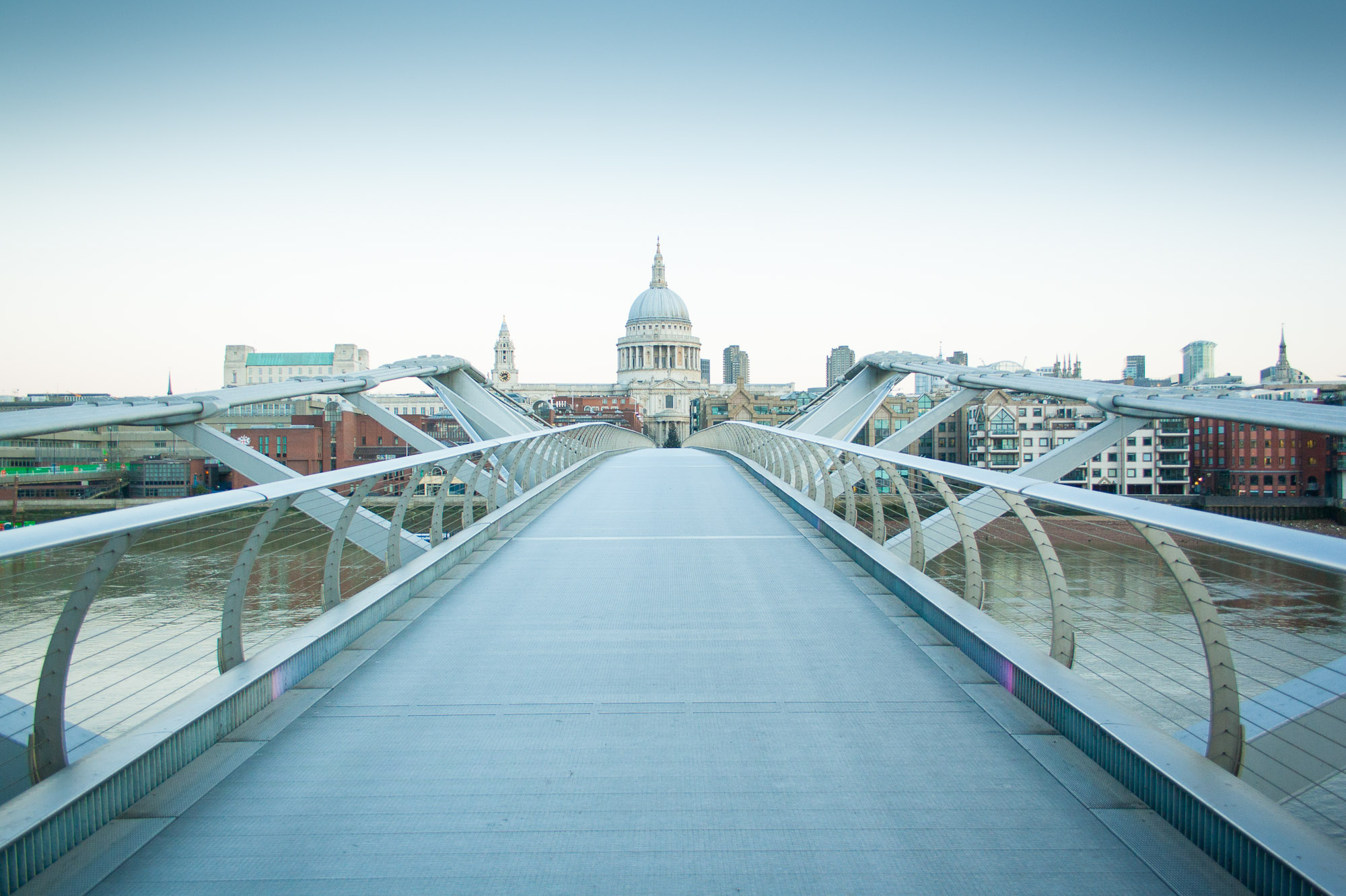 Empty streets of London