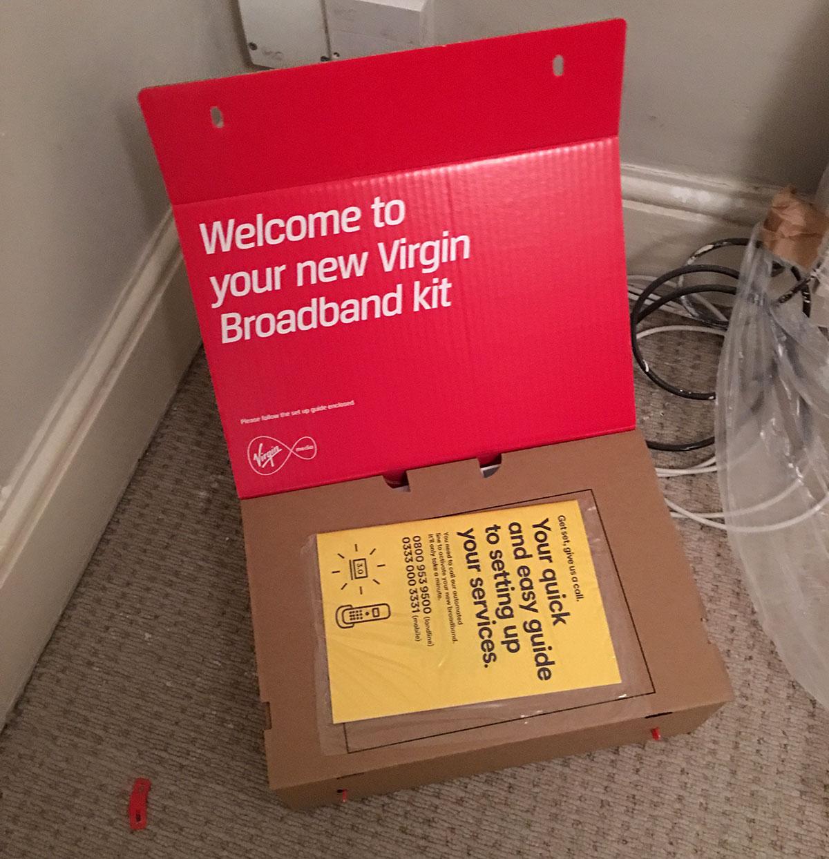 Virgin Media broadband unboxing