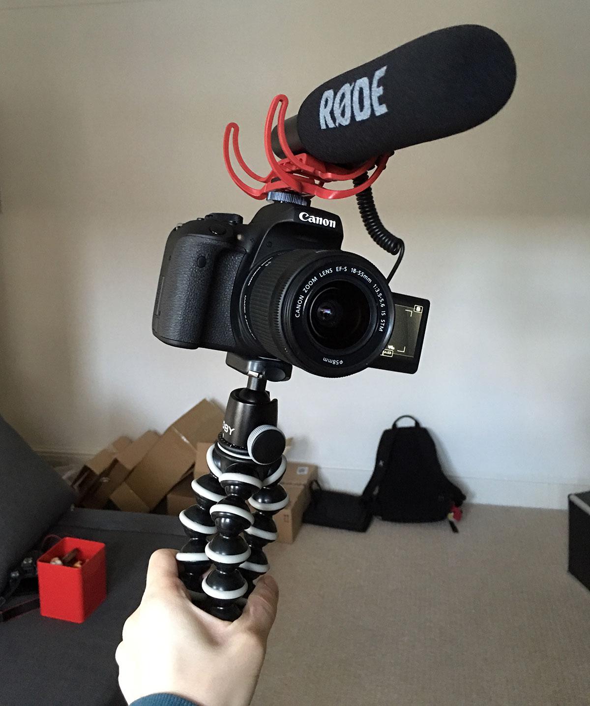 Vlog camera rig