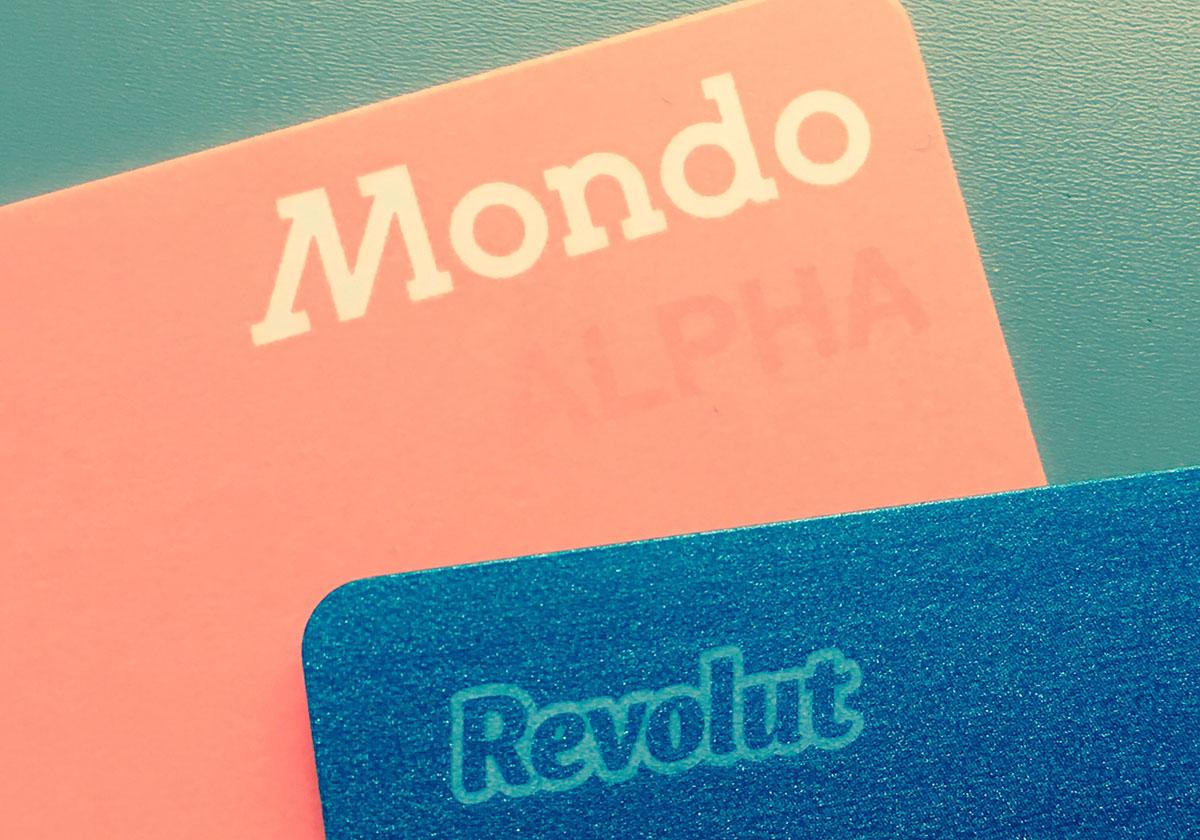 Revolut and Mondo cards